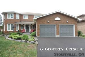 6 Geoffrey Cres, Whitchurch-Stouffville